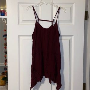 Burgundy Loose Fit Tank Top